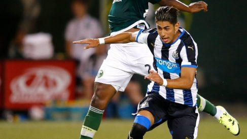 Ayoze Pérez con el Newcastle (AFP)