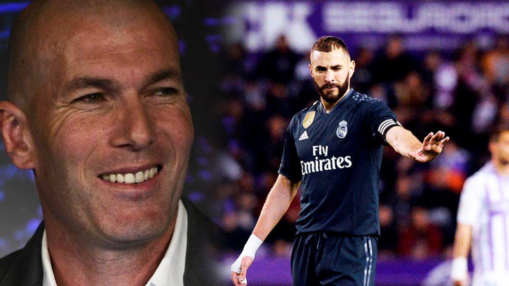 Zinedine Zidane tiene claro que cuenta con Benzema para todo.