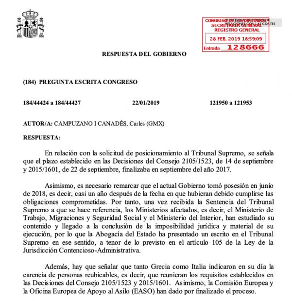 Sánchez rechaza acoger a los refugiados que exigía a Rajoy y dice que no tiene