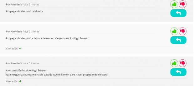 Errejón comienza su campaña con llamadas masivas y le meten en una lista de 'spam telefónico'