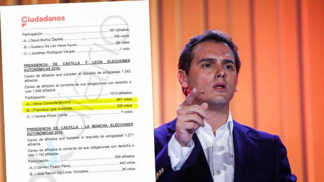 La 'victoria' de Clemente sobre Igea todavía sigue apareciendo en la intranet del partido de Albert Rivera. (Foto: EFE/OKDIARIO)