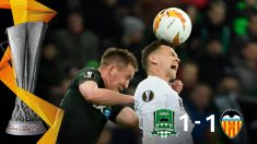 El Valencia empata y está en cuartos de final de la Europa League.