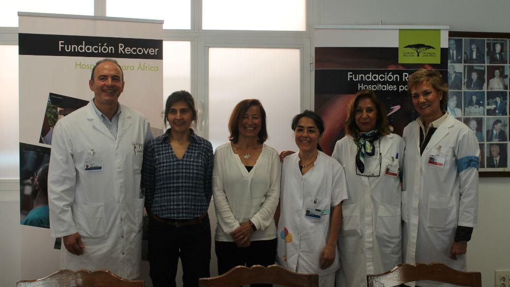 Responsables de la Fundación Recover y profesionales de la Fundación Jiménez Díaz