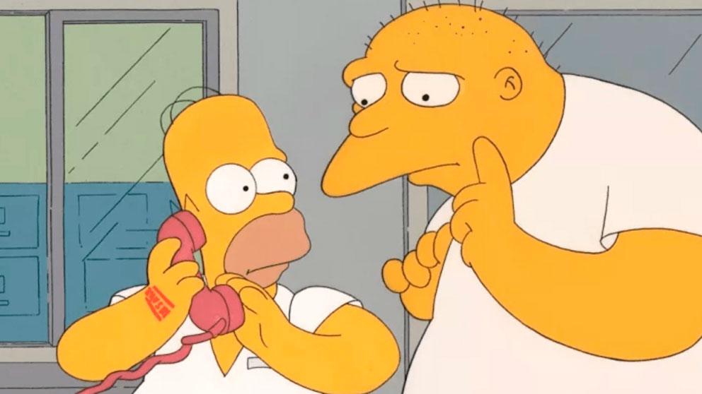 Una escena del capítulo de 'Los Simpson' en el que colaboró Michael Jackson.