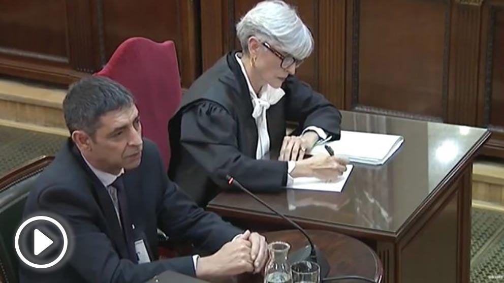 El ex Mayor de los Mossos, Josep Lluís Trapero, en su declaración en el juicio del 1-O