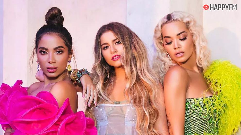 Anitta, Sofía Reyes y Rita Ora