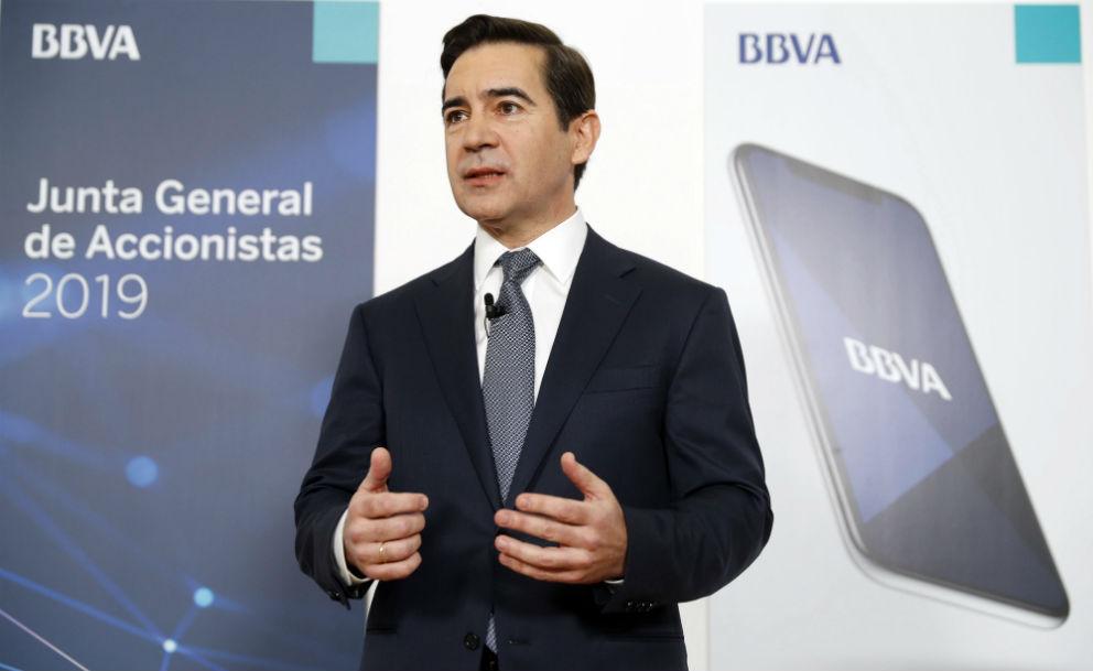 Carlos Torres, presidente de BBVA, este viernes en Bilbao