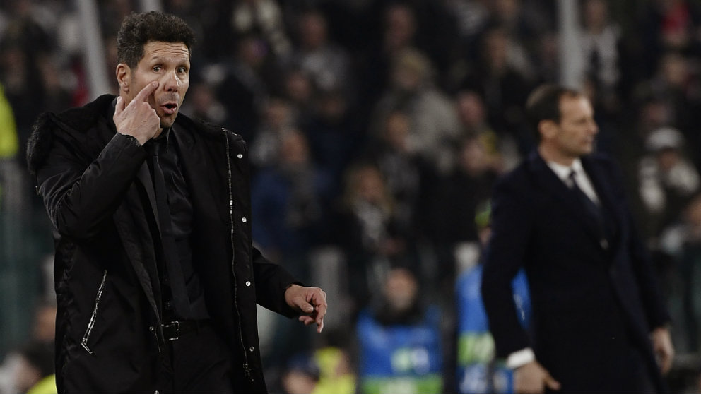 Diego Simeone y Allegri (AFP)