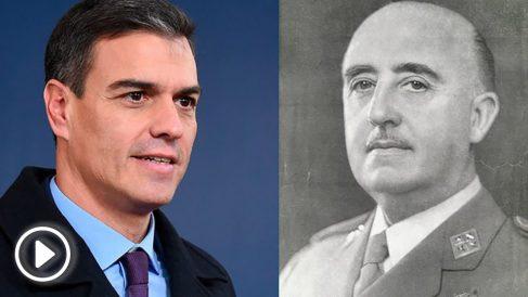 Pedro Sánchez y Francisco Franco.
