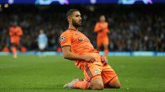 Nabil Fekir celebra un gol con el Olympique de Lyon en la Champions League. (Getty)