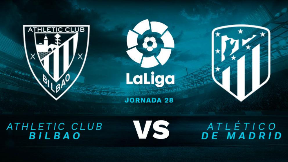 Athletic de Bilbao – Atlético de Madrid: jornada 28 de la Liga Santander.