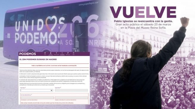 Iglesias a la desesperada: ordena fletar autobuses gratis en toda España para llenar en su regreso