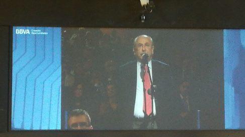 Luis del Rivero en la junta de accionistas (foto: Mario Moratalla)