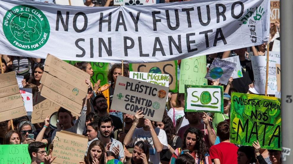 Manifestación y huelga de estudiantes contra el cambio climático del 14 de marzo.