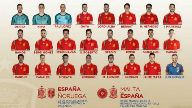 Convocatoria de España: Luis Enrique revoluciona la Selección y se carga a Isco