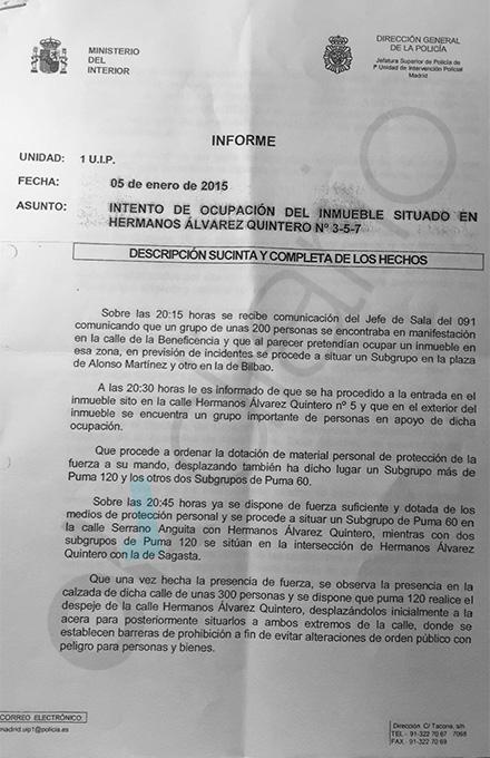 La Policía dice que el concejal de Seguridad de Carmena era el líder de los okupas de Madrid