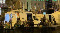 Las unidades móviles de Roures, en el escenario de la manifestación