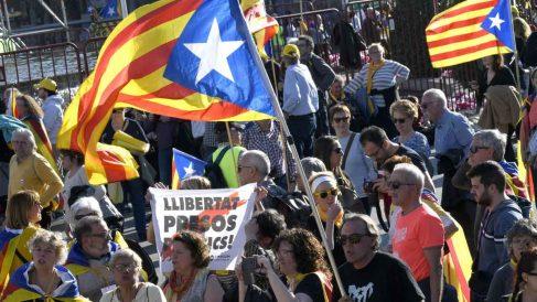 Manifestación independentista en Madrid. Foto: EFE
