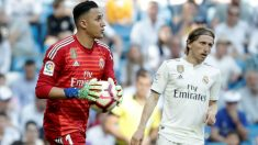 Keylor Navas, durante un partido en el Real Madrid. (Getty)