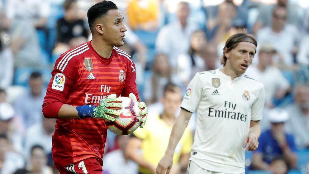 Keylor Navas, durante un partido en el Real Madrid. (Getty)