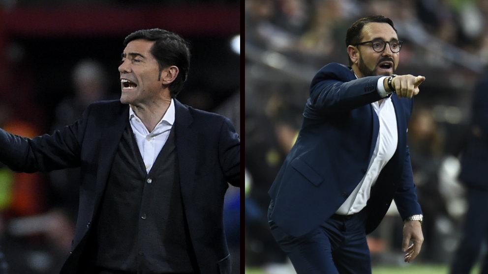 Marcelino y Bordalás (AFP)