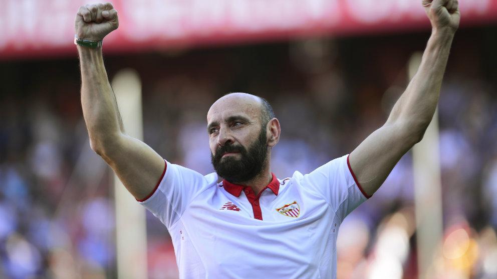 Monchi en su despedida del Sevilla (AFP)