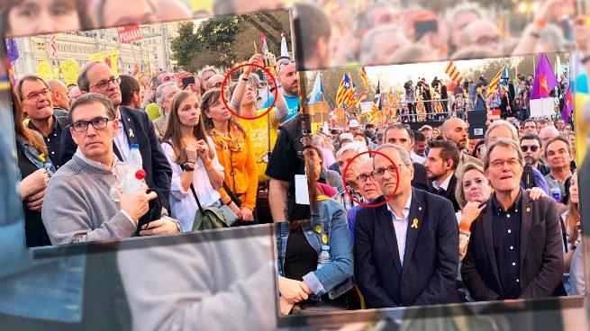 El ex colaborador de ETA Boye y la ex socialista Talegón en primera fila de la protesta separatista