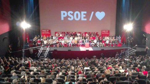 Acto del PSOE en Madrid con Pepu Hernández. Foto: Europa Press.