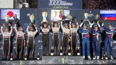 El podio de las 1.000 millas de Sebring.