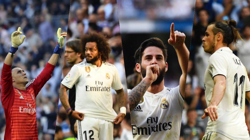 Keylor Navas, Marcelo, Isco y Gareth Bale.