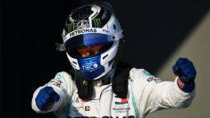 Bottas festeja su triunfo en el GP de Australia. (Getty)