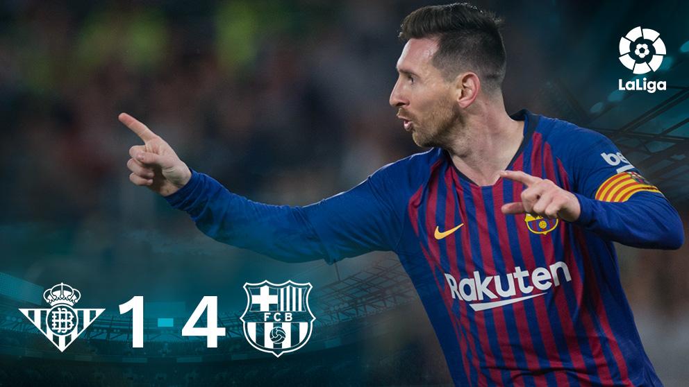 Leo Messi firmó un tremendo partido en el Villamarín.