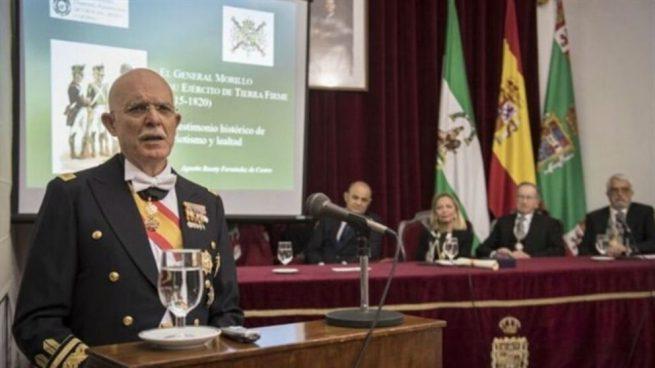El general de Infantería de Marina Agustín Rosety será cabeza de lista por Vox en Cádiz