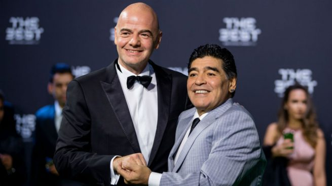 Maradona raja de Infantino: «Me llamaba antes de las elecciones y después no me llamó más»
