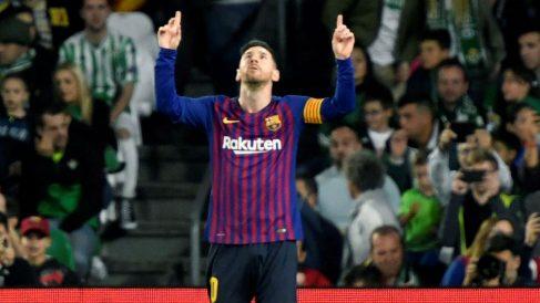 Messi celebra un gol con el Barcelona. (EFE)