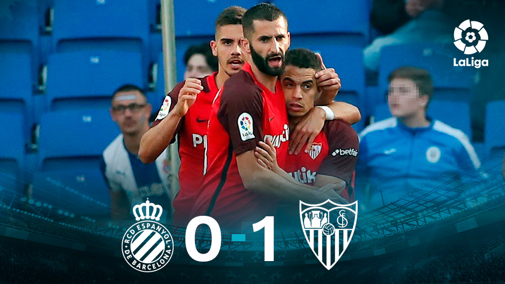 El Sevilla gana 0-1 al Espanyol. (EFE)