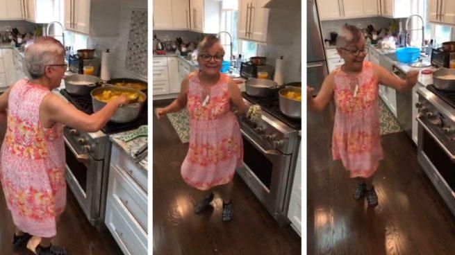 Una abuela cocinera a ritmo de reguetón arrasa en Facebook