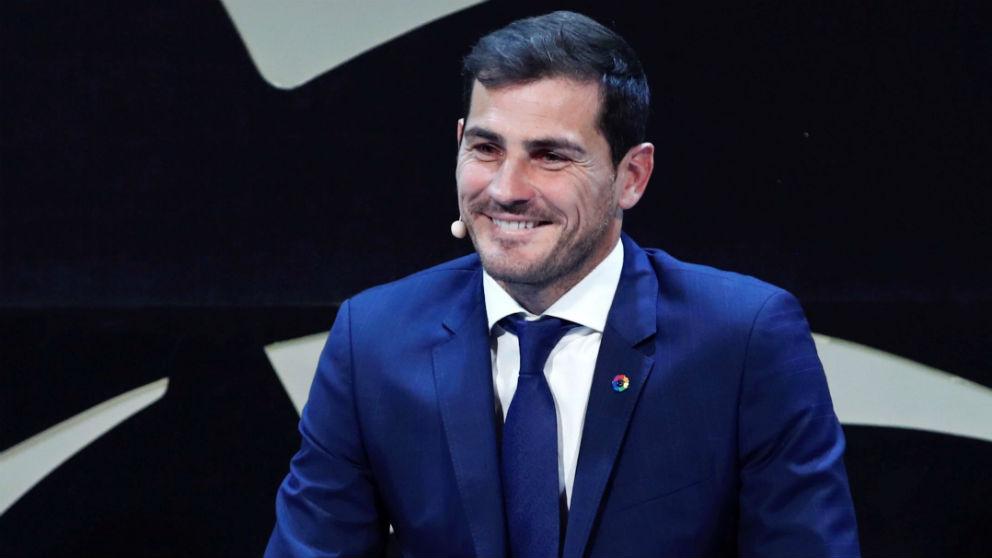 Iker Casillas en el acto de la Liga. (EFE)