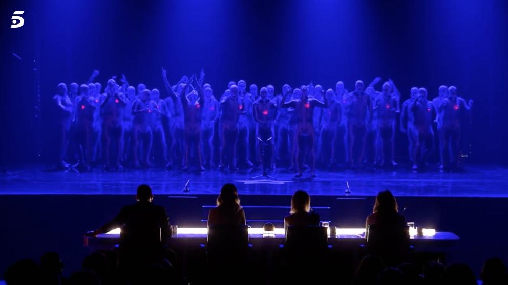 La murga Zeta Zetas en el escenario de 'Got Talent'