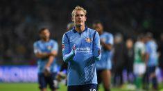 Julian Brandt, después de un partido con el Bayer Leverkusen. (AFP)