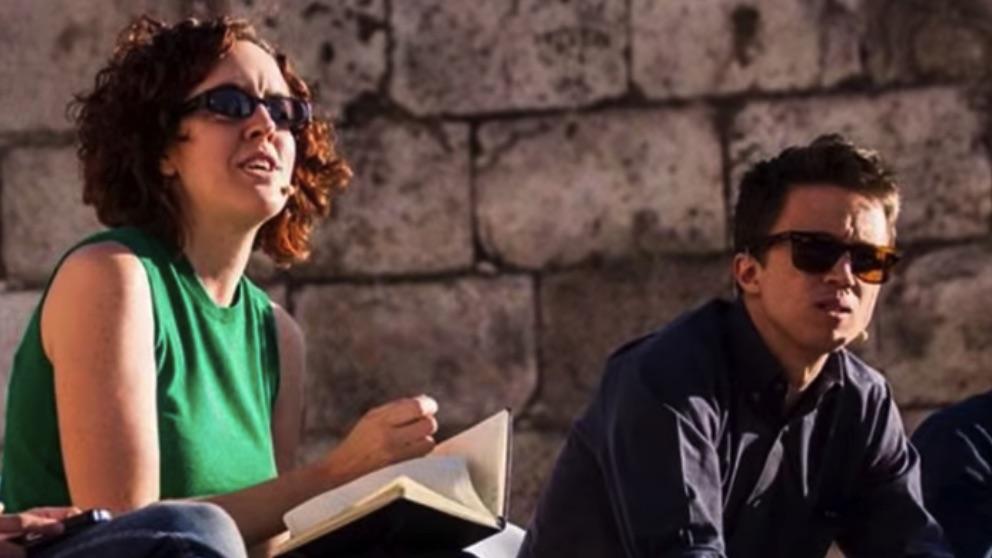 María Pastor Valdés junto a Íñigo Errejón en Alcalá de Henares. (Foto. Más Madrid)