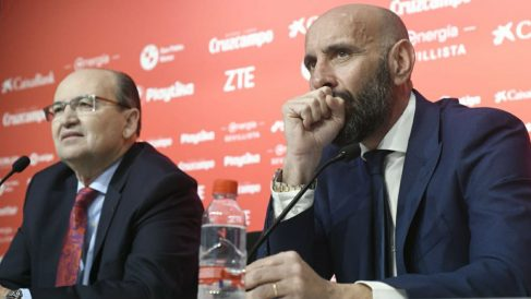 Monchi, durante su presentación. (Sevilla)