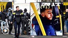 El sospechoso identificado por la Policía holandesa como el responsable del tiroteo de Utrecht. foto: AFP