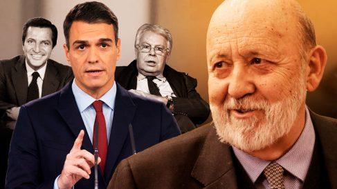 El presidente del CIS, José Félix Tezanos, junto a Pedro Sánchez y otros ex presidentes como Adolfo Suárez y Felipe González