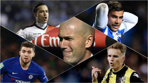 Zidane deberá decidir sobre el futuro de los cedidos.