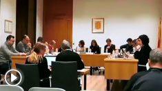 El pleno municipal en el que la alcaldesa de La Garriga, Meritxell Budó, regañó a un portavoz de Ciudadanos por no hablar en catalán