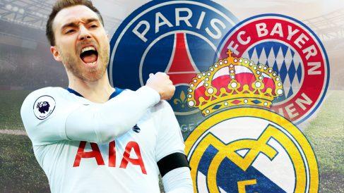 Eriksen, objetivo de Real Madrid, Bayern y PSG.