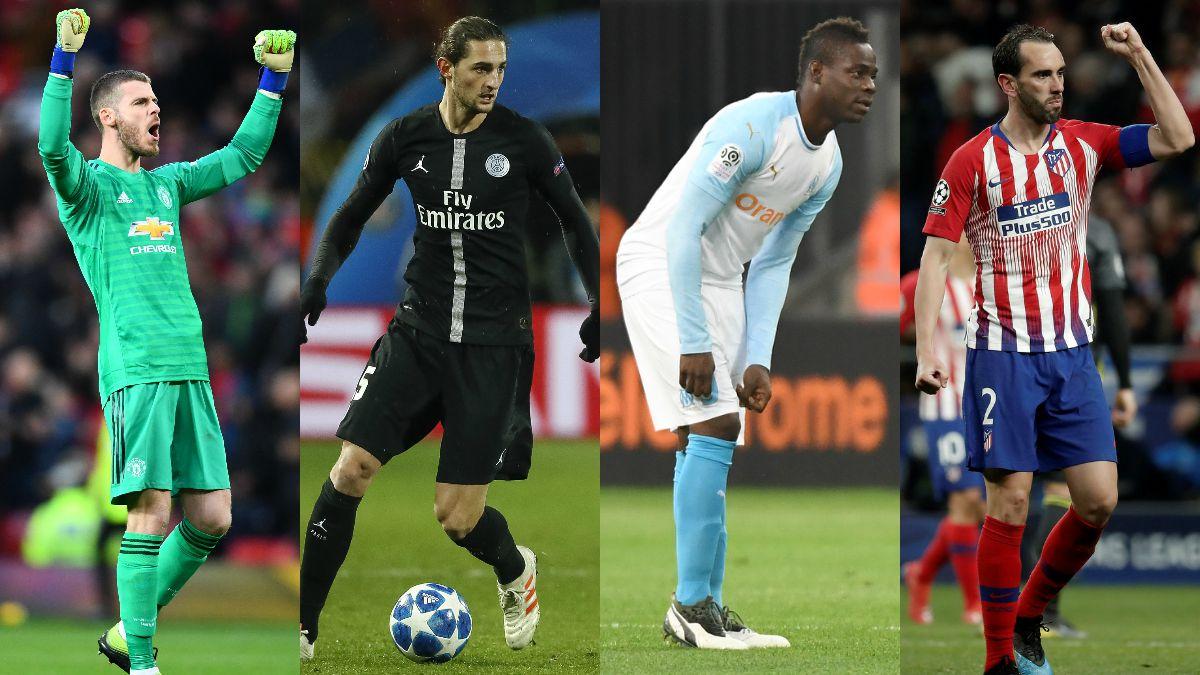 Los jugadores que quedan libres el 30 de junio de 2019 (Getty/AFP).