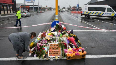 Homenaje de flores a las víctimas del atentado de Nueva Zelanda. Foto: Europa Press