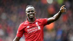 Sadio Mané celebra un gol con el Liverpool (Getty).